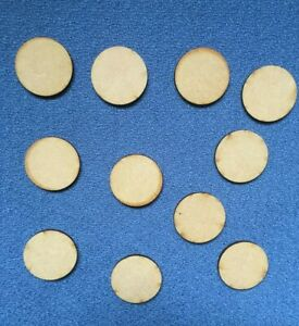 3mm thick mdf 3.5cm circles shapes craft blanks