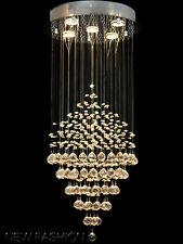 Stunning Modern Romantic Crystal Flushmount Chandelier Lighting Ceiling Fixtures