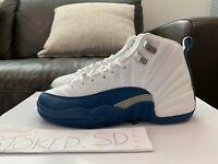 DS 2004 AIR JORDAN XII 12 FRENCH BLUE SIZE 6Y TAXI FLU GAME PLAYOFF WHITE NEW