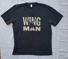 JACK DANIELS Mens T-shirt Gray V-neck Wingman Tennessee Honey Size XL GREAT