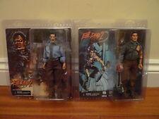 Neca EVIL DEAD 2 Set - Clothed Hero & Deadite Ash figures Bruce Campbell BNIB