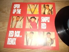 "SIMPLY RED ""OPEN UP THE RED BOX"" REMIX ""LOOK AT YOU NOW"" 1986 WEA UK VINYL RARE"