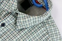 The North Face Mens Short Sleeve Ivory Plaid Button Front Shirt Size Large