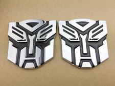 2pcs Transformer Autobot Deception Badges Emblem Sticker Car Trunk Gas Tank