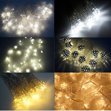 10 20 30 40 50 100 120 LED Lichterketten Warmweiß Kaltweiß Batterie Strom Timer