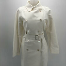 Burberry White Trench Coat Size 10