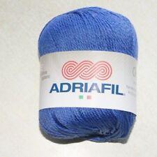 Pelote de laine ADRIAFIL CHEOPE bleu océan n°63 100% coton égyptien