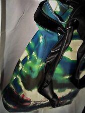 GALLIANO. Splendide Grand Sac Streetwear Femme. Coton Imprimé_Cuir Nappa / NEUF
