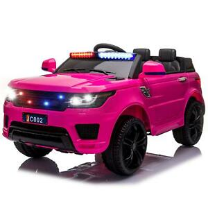 12V Electric Fire Truck Kids Ride On Car SUV Toy RC Car w/Remote Siren Music