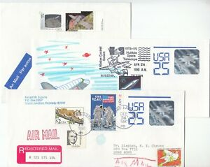 """U.S.A. AND CANADA, 1990-92, """"SPACE HOLOGRAM"""" 3 ADDRESSED COVERS FRESH CONDITION"""