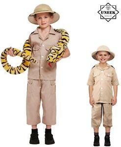 Childs COSTUME SAFARI EXPLORER Boys Zoo Keeper Outfit Jungle Fancy Dress Kids