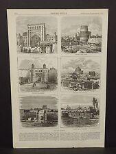 Harper's Weekly 1Pg The City of Khiva 1873 B8#06