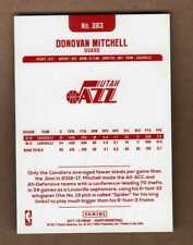 2017-18 Panini NBA Hoops #263 RED BACK ... Donovan Mitchell Rookie RC ... Jazz
