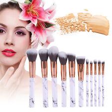 10PCs Pro Makeup Cosmetic Brushes Set Powder Foundation Eyeshadow Lip Brush Set