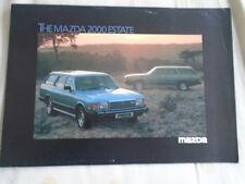 Mazda 2000 Estate brochure Jan 1980 English text