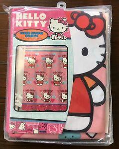 "Sanrio Hello Kitty Pink Fabric Shower Curtain 70"" x 72"""