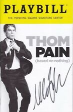 Michael C. Hall Signed Autographed Thom Pain Playbill