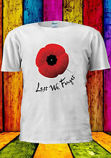 Remembrance Day Poppy British UK T-shirt Vest Tank Top Men Women Unisex 2181