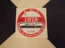 Disque fiscale italienne 1978-FIAT 500 600 126 Lancia Giulietta Beta ALFA GTV ABARTH