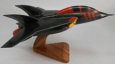 Turbo Kat Swat Kats VSTOL Aircraft Mahogany Kiln Dry Wood Model Small New