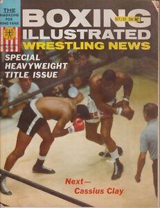 Boxing Illustrated Wrestling News October 1963 Cassius Clay Muhammad Ali Fair