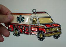 Vintage 70s Old School AMBULANCE EMS Paramedic Sparkle Window Suncatcher Mobile