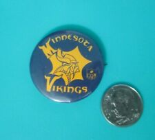 "Vintage 1960's Minnesota Vinkings NFL Football NFL 1.25"" Pin Pinback Button"