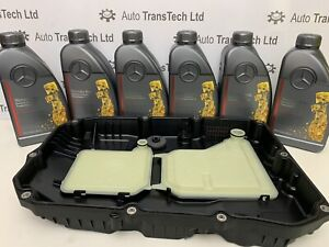genuine mercedes 9G tronic automatic gearbox sump pan oil 6L FE MB 236.17 kit