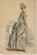 "c. 1870s French Fashion Plate/ Illustration 6.75"" x10"" ""Imp.Lemercier & C. Paris"