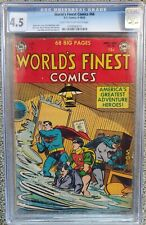 WORLD'S FINEST #66 CGC 4.5 LT-OW! RARE! IN TOP 7 OF ONLY 15 GRADED! BATMAN!