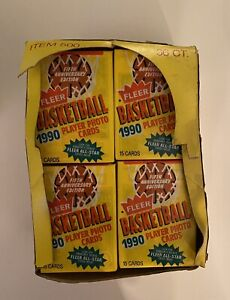 1990-91 Fleer Basketball Wax Box - 36 Unopened Packs🔥 Chance at PSA 10 Jordan🔥