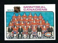 NMT 1975 Topps #90 Montreal Canadiens Team and Unmarked Checklist.