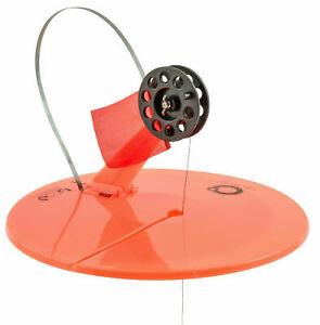 """2PK CELSIUS 10"""" ROUND UP TIP ABOVE ICE FISHING SYSTEM WITH LINE AND HOLE COVER"""