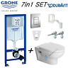 GROHE WC FRAME & DURAVIT DURASTYLE RIMLESS WALL HUNG TOILET PAN SOFT CLOSE SEAT
