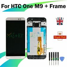 For HTC One M9 LCD Display Frame Touch Screen Full Assembly Replacement White UK