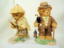Cherished Teddies Watson and Holmes  2006 RETIRED  NIB
