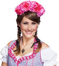 Blumenschmuck Haarreif pink NEU - Karneval Fasching Hut Mütze Kopfbedeckung