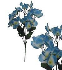 Lot of 24 Blue Hydrangea Picks 120 Stems Wedding Home Decor Craft Silk Flower