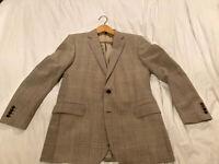 Ecru And Brown Gieves & hawkes Jacket 44R