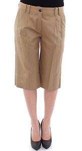 NWT DOLCE & GABBANA D&G Beige Solid Cotton Shorts Pants IT42/ US8/ EU38/ M