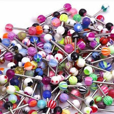 Hi 60 X Mixed Color Tongue Ring Piercing Jewellery Tounge Different Barbell Bar