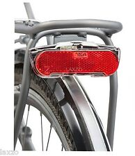 AXA Slim LED Carrier Dynamo Operated Rear Light Bicycle Bike Pannier Rack Fit