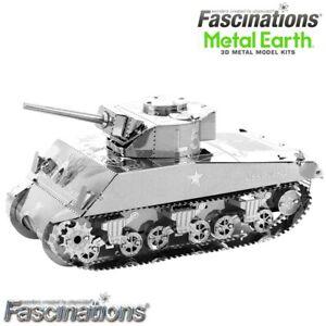 Metal Earth US Military M4 Sherman Tank 3D DIY Steel Model Building Kit Puzzle