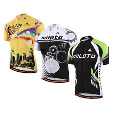 Cycling Maillot Bike manches courtes T-shirt Vêtement de sport Jersey Top Hommes