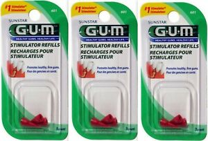 GUM Stimulator Refills  3 / package ( 3 packages ) - 9 tips total