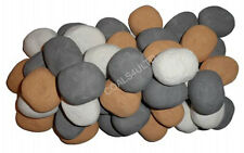 30 MIXED GAS FIRE REPLACEMENT PEBBLES COALS STONES 60MMX 40 X 35MM RCF CERTIFIED