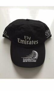BNWT AMERICAS CUP EMIRATES TEAM NEW ZEALAND CAP BLACK WHITE NORTH SAILS