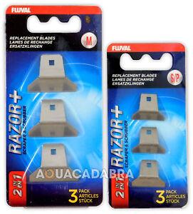 Fluval Razor+ Algae Magnet Replacement Blades Small/Medium Aquarium Scrapers