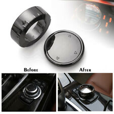 Car Big Multi Media Knob Cover Black Button Trim For BMW F10 F20 F30 iDrive  !