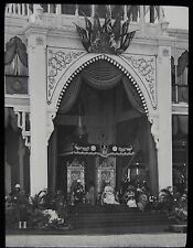 Glass Magic Lantern Slide THE CALCUTTA PAGEANT C1911 PHOTO BRITISH ROYALTY INDIA